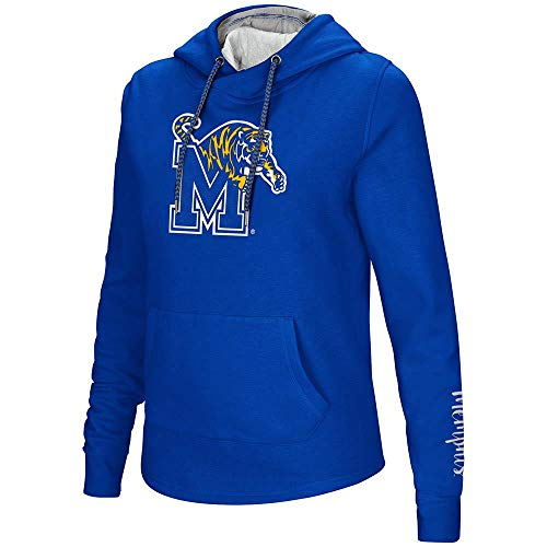 Colosseum Womens Memphis Tigers Pull-Over Hoodie - L