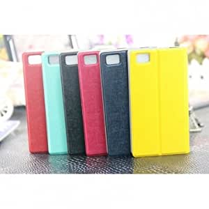 Dual Color Flip Leather Holder Protective Case For Xiaomi Mi3 & Color = Red+White