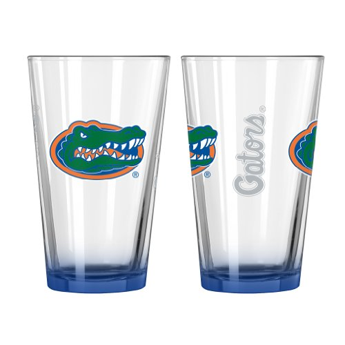 Boelter Brands NCAA Florida Gators Elite Pint Glass, 16-ounce, 2-Pack