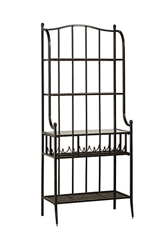 Hillsdale Indoor Outdoor Baker's Rack In Antique Black by Hillsdale
