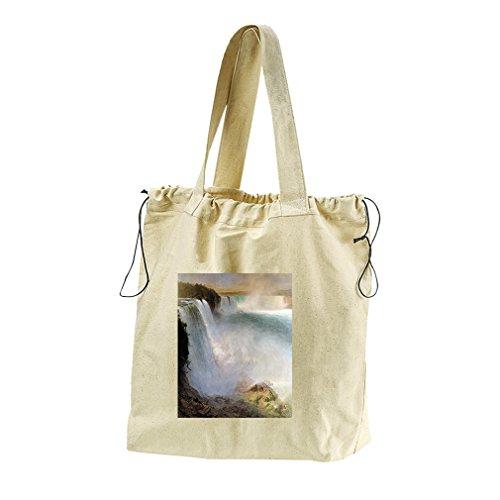 Niagara Falls American Side #1 (Church) Canvas Drawstring Beach Tote - Usa Gift Niagara Falls Shop
