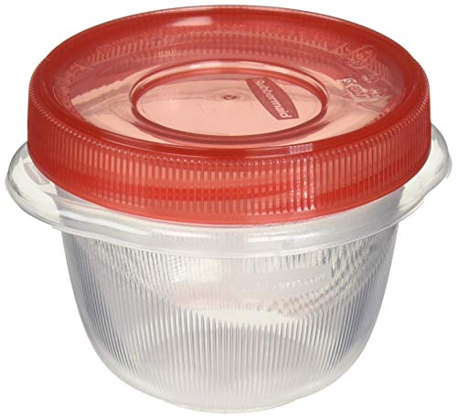 (Rubbermaid Takealongs Twist and Seal Food Storage Containers, 1.2 Set of 4 (2-Pack of 4), Clear)
