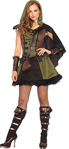 Female Robin Hood Fancy Dress (Womens Halloween Costume- Robin Hood Darling 3 Piece Adult Costume Medium)