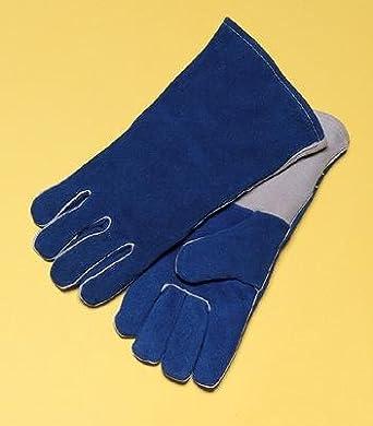 """Radnor® grande azul 14 """"premium con forro de algodón, soldadores guantes de"""