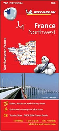 Map Of Northwest France.Northwestern France Michelin National Map 706 Michelin National