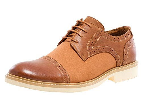 Jump J75 Mens Boston Dress Casual Oxford Shoe Tan