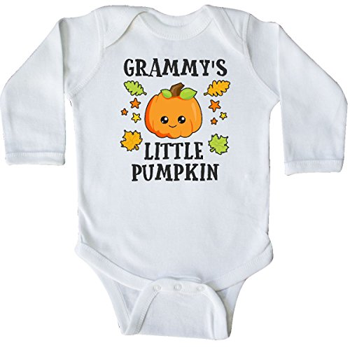 inktastic - Grammys Little Pumpkin with Long Sleeve Creeper 6 Months White 2bc86