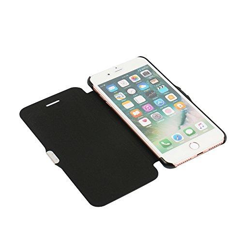 Funda iPhone 6s, Funda iPhone 6, MTRONX Cover Carcasa Case Caso Ventana Vista Ultra Folio Flip Twill Tela Asargada PU Cuero Delgado Piel con Cierre Magnetico para Apple iPhone 6s iPhone 6 - Rosa (MG1- Negro