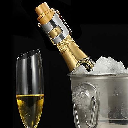 Tapón Botella Vino Espumoso Cierre De Champán Tapón Botella Vino Cierre Tapa De La Botella De Vino Con Bomba Tapa Del Sellador De Botellas Tapa De Champaña Inoxidable Tapón Con Bomba De Presión(2pcs)