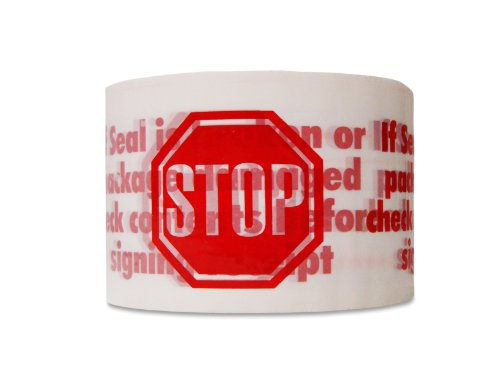 (72 Rolls) Printed Packing Stop Sign Tape 2'' x 110 Yards 2 Mil Carton Sealing by PackagingSuppliesByMail