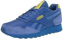 Reebok Women's Classic Harman Run Sneaker, Blue Blast/Blue Blast/Hero Yellow, 8 M US