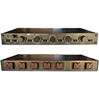 2x5 Matrix Speaker Selector Switch Switcher with Volume Level Control