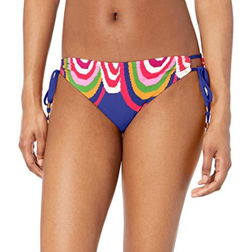 Trina Turk Women's Side Tie Hipster Bikini Swimsuit Bottom, Ultramarine//Rainbow Swirl, 12