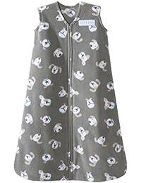 HALO SleepSack Micro Fleece Wearable Blanket, Gray Pooch,...