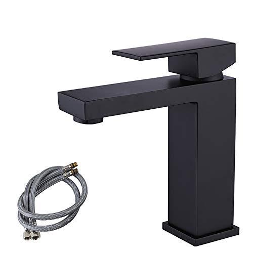 - KES cUPC NSF Certified BRASS Lead-Free Brass Bathroom Sink Faucet Single Handle Lavatory Single Hole Vanity Sink Faucet Black, L3120ALF-BK
