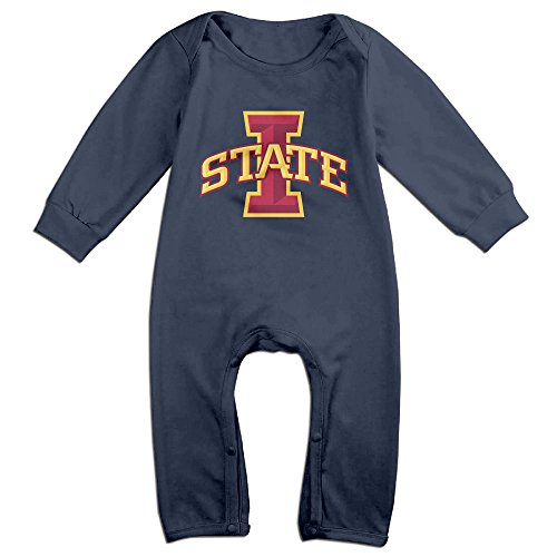 Play Doh Costume Halloween (PCY Newborn Babys Boy's & Girl's Iowa State University Long Sleeve Jumpsuit Outfits For 6-24 Months Navy Size 6 M)