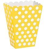 Unique Party - 59293 - Paquet de 8 Boîtes de Pop-Corn à Pois - Jaune