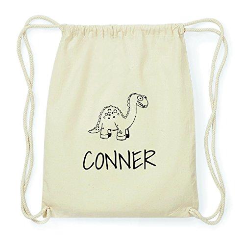 JOllipets CONNER Hipster Turnbeutel Tasche Rucksack aus Baumwolle Design: Dinosaurier Dino