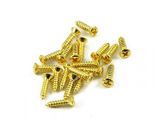 50 Pack Guitar Pickguard Backplate Jack Plate Screws Gold Finish 12mm X #4