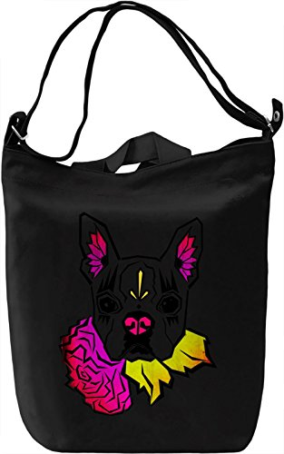 Sugar Skull Boston Terrier Borsa Giornaliera Canvas Canvas Day Bag| 100% Premium Cotton Canvas| DTG Printing|