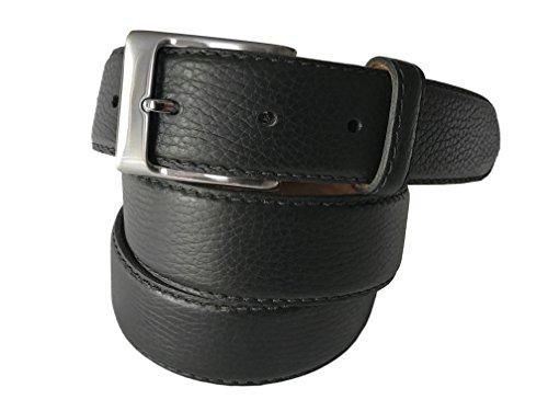 Fresco Golf Full Grain Leather Casual Black Men's Belt, Classic Black, 37 Classic Golf Belt