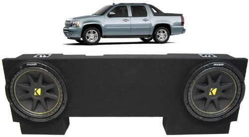 "ASC Package Chevy Avalanche 02-13 Dual 12"" Kicker C12 Subwoofer Under Seat Sub Box Enclosure 600 Watts Peak"