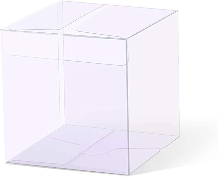 YOZATIA 25PCS Transparent Boxes 3 x 3 x 3 inch, Candy Box, Clear Plastic Boxes Gift Boxes for Wedding, Party and Baby Shower Favors