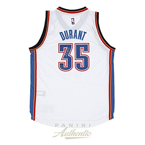 Kevin Durant Autographed 2014 Adidas White Thunder Swingman Jersey ~Open Edition Item~ by Panini Authentic