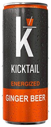 Kicktail Mixer (Ginger Beer) Energized Premium Cocktail Mixer 12 Pack 12 Fl OZ
