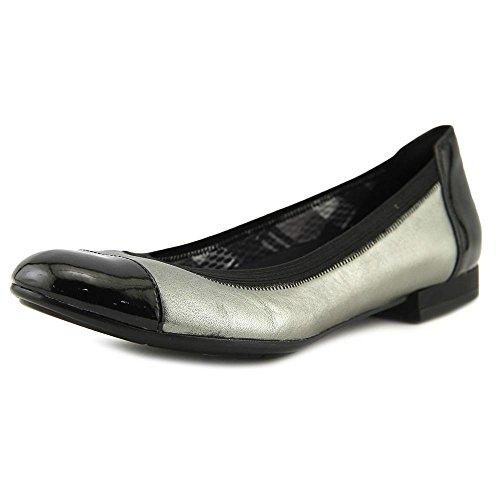 Black Flat Snake Naturalizer White Therese Shiny Women's Black Ballet 1nUIB