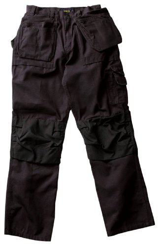 Blaklader Workwear Bantam Pant with Utility Pockets, 38-Inch Waist, 30-Inch Length, 8-Ounce Cotton - Black