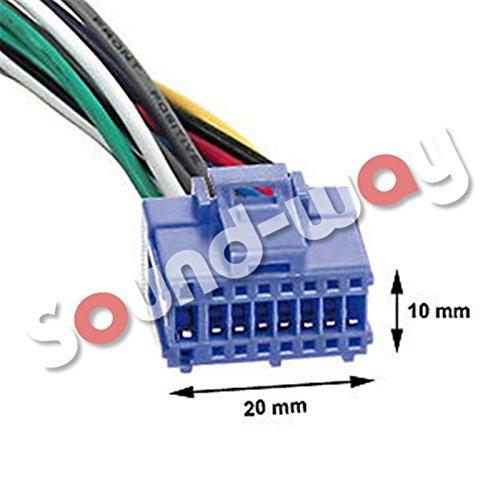 Kabel Adapter Anschluss Kabelbaum ISO f/ür Pioneer 16/Kiefer AVIC//AVH Blue