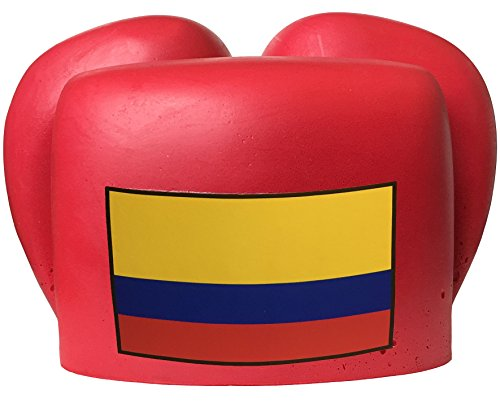 Cheesehead World Cup Customizable Ushanka Hat (Colombia, Red)