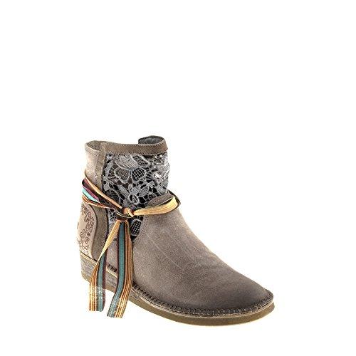Véritable Avec A962 Femme Chaussures Tomber Thita Multicolore Bottes Amour en Cuir Multicolore Felmini Casual qTFPHg