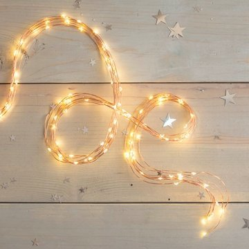 Fairy Lights, 8 Strand Spray, 120 LED, 3.8 ft, Copper Wire, Warm White