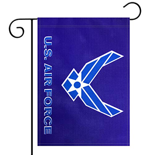 Garden Flag US Air Force Wings Flag Garden Flag,Garden Decoration Flag,Indoor and Outdoor Flags,Celebration Parade Flags,Army Party Events Celebration,Double-Sided. (Airforce Party Decorations)