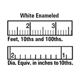 BEN MEADOWS White Enameled Steel Diameter Tape Refill for No. 122462, 10m/320cm By Tabletop King