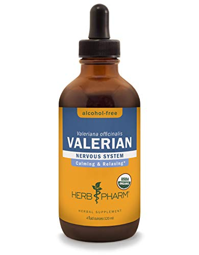(Herb Pharm Certified Organic Alcohol-Free Valerian Root Liquid Glycerite for Restful Sleep - 4 Ounce)