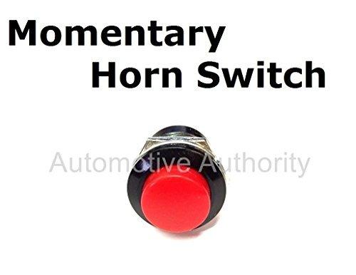 Universal Golf Cart / ATV / Tractor 12 Volt / 10 Amp Horn Switch Button - Dash Mount ()