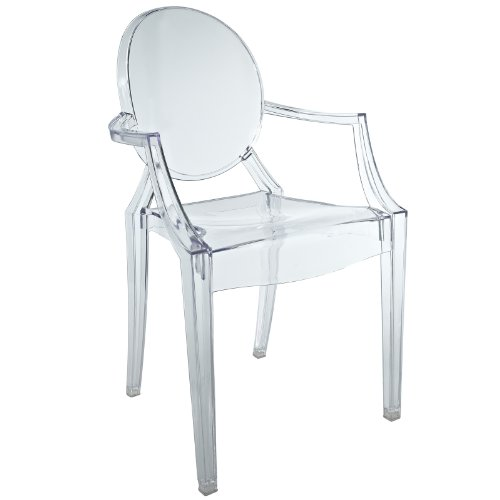 LexMod Casper Novelty Chair in Clear