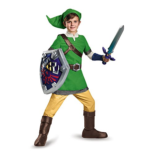 Link Legends Of Zelda Costume (Link Deluxe Child Costume, Large (10-12))