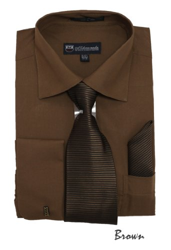 brown dress shirt and tie - 5