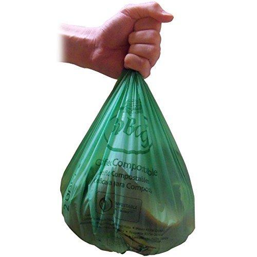 Bio Bag Food Waste Bags 2 Gallon Case of 600 (Usa Bag Bio)