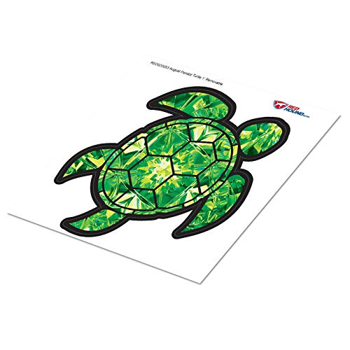 Red Hound Auto Peridot Green Yellow Sea Turtle Birthstone Removable Wall Decal August Print Peel and Stick Large 1 Foot Tall Gem Sticker
