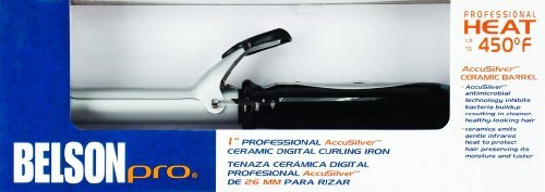- Belson Pro 1 inch Accusilver Ceramic Digital Curling Iron by Belson
