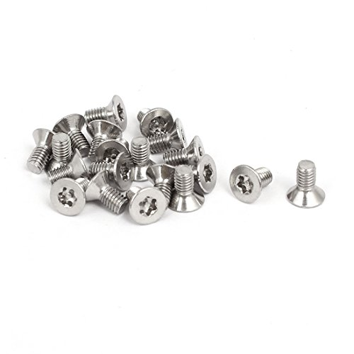 uxcell M6x25mm 304 Stainless Steel Button Head Torx Security Tamper Proof Screws 20pcs