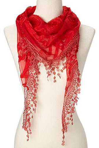 Buy red scarves for women bulk
