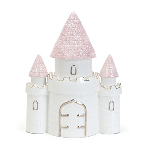 Child to Cherish Ceramic Dream Big Princess Castle Piggy Bank for Girls, ()