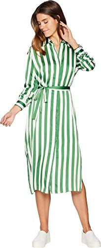 - Juicy Couture Women's Awning Stripe Satin Dress Green Tea Awning Stripe Small