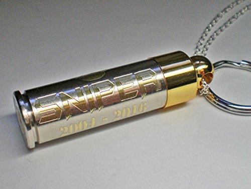 45-colt-nickel-brass-engraved-bullet-pendant-dog-pet-cremation-urn-genuine